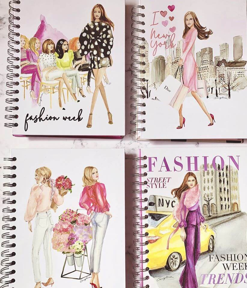 Cuadernos con Fashion Illustrations