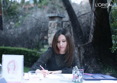 L'Oreal – Ilustracíón en vivo